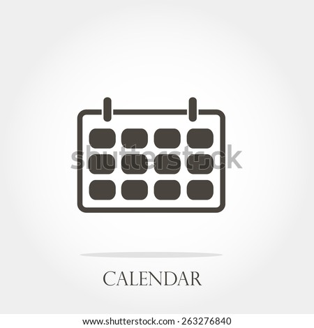 calendar, minimum points, clean work, vector illustration - stock vector