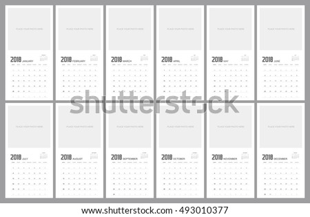 2018 Calendar Planner Design.
