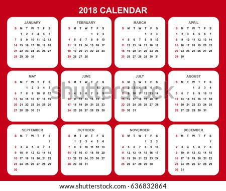 Calendar 2014 2017 Spanish Stock Vector 135315254 - Shutterstock