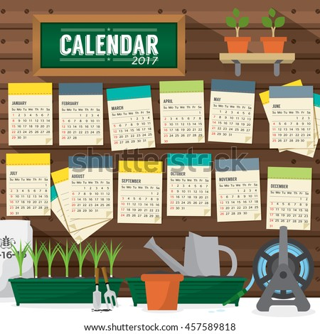 Garden Calendar Stock Images RoyaltyFree Images Vectors