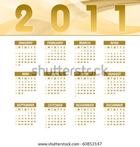 2011 Calendar. Vector Illustration. - stock vector
