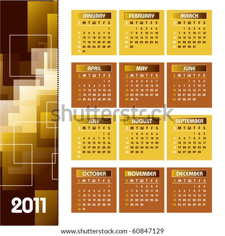 2011 Calendar. Vector Illustration. eps10. - stock vector