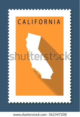 California Map, US State - stock vector