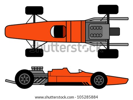 1960 car - stock vector