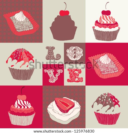 card with cupcakes