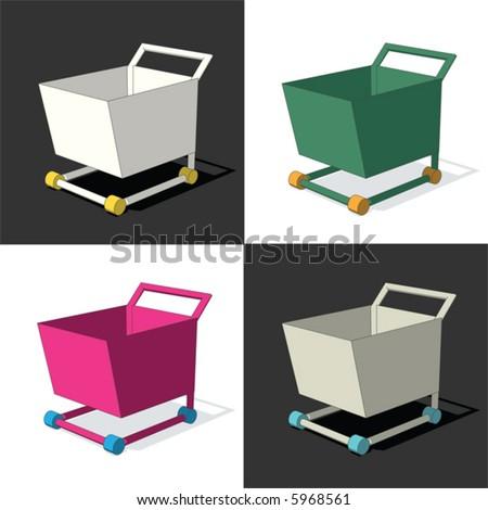 4 cart (vector) - stock vector