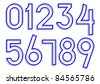 Carved numbers 0-9. Vector - stock vector