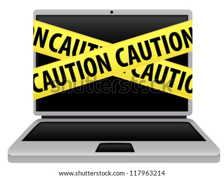 """Caution"" - stock vector"