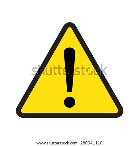 caution sign vector triangle with exclamation mark - stock vector