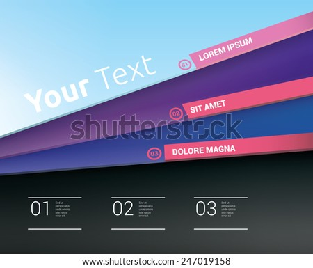 Celebration Color Composition Abstract Paper Pages Compositions With Magenta Title Bar Elements And Box Field At The Bottom. Cmyk Color Mode Eps10 Vector Illustration - stock vector
