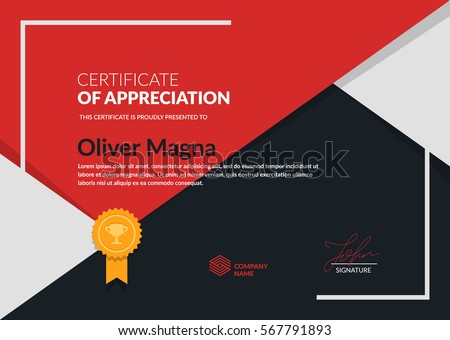 Modern certificate stock images royalty free images vectors certificate of appreciation trendy design simple geometric shapes composition layered eps10 vector yadclub Gallery