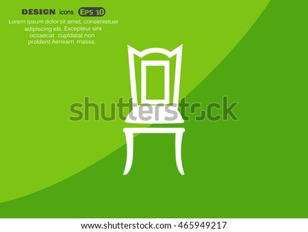 chair Icon Vector.