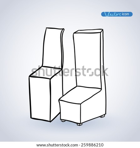Chair icon, vector illustration.