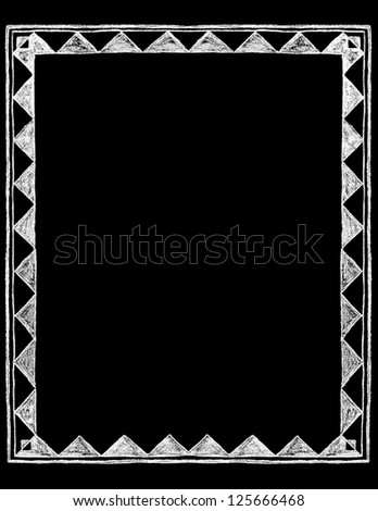Chalk Board Border - stock vector