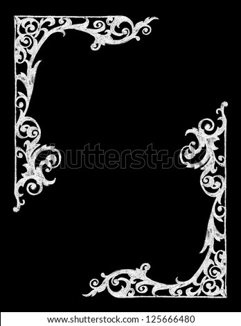Chalk Board Western Border - stock vector