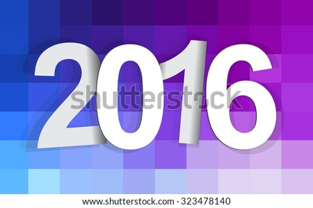 2015-2016 change represents the new year 2016. New year 2016 Text Design. - stock vector