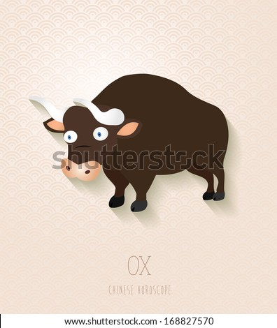 2021 Chinese New Year of the Ox funny cartoon zodiac collection illustration. EPS10 vector file with transparency layers. - stock vector