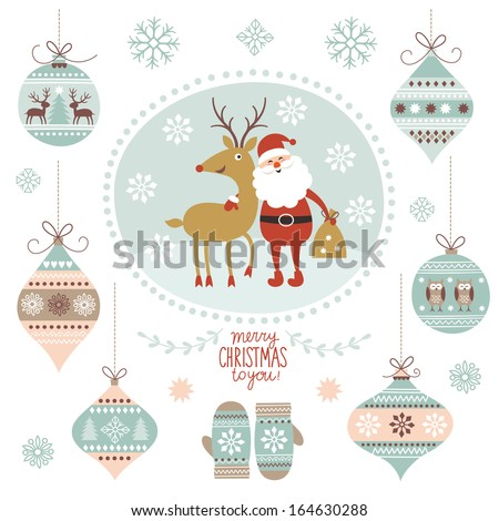 Christmas graphic elements - stock vector