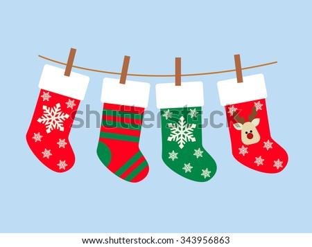 christmas socks vector background various christmas stock vector