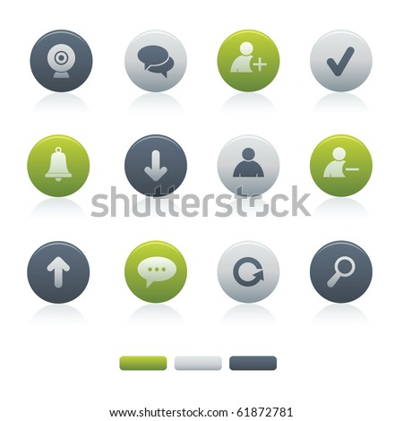 01Circle Mixed Chat Media Icons Professional vector set for your website, application, or presentation. The graphics can easily be edited colored individually and be scaled to any size - stock vector