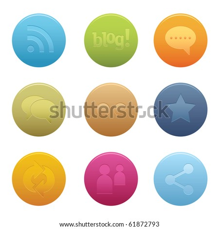 05Circle Social Media Icons Professional vector set for your website, application, or presentation. The graphics can easily be edited colored individually and be scaled to any size - stock vector