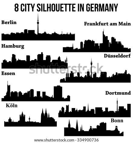 8 city germany deutschland berlin hamburg stock vector 334900736 shutterstock. Black Bedroom Furniture Sets. Home Design Ideas