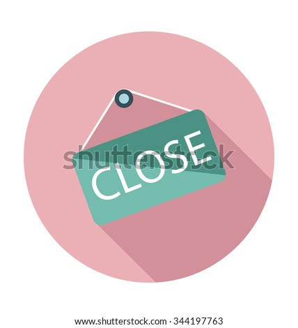 Closed Sign Colored Vector Illustration