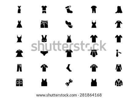 Clothes Solid 2  - stock vector