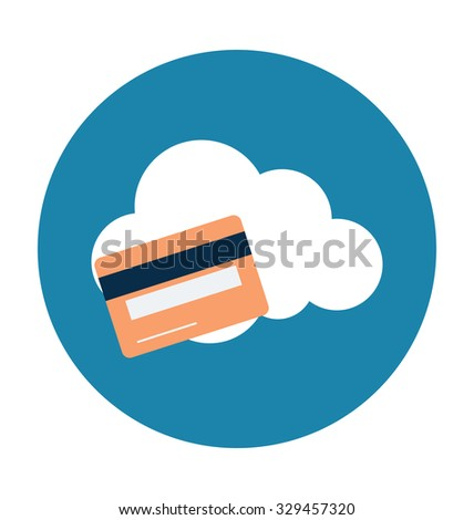 Cloud Banking Colored Vector Illustration