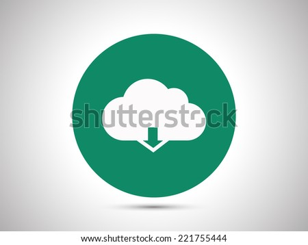 cloud computing download icon - stock vector
