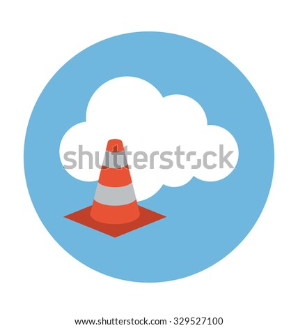 Cloud Cone Colored Vector Illustration