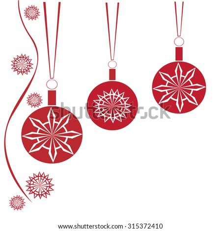 Collection of Christmas banners - Illustration Christmas Ornament, Christmas, Christmas Decoration, Backgrounds, Red  - stock vector