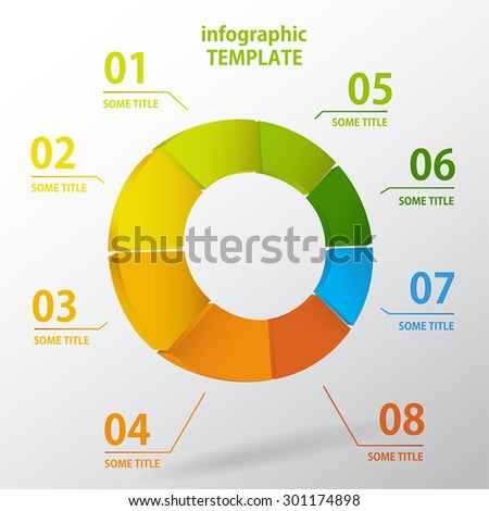 Colo3D illustration Infographic.Vector illustration can be used for workflow layout, diagram, number options, web design. - stock vector