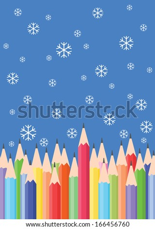 color pencils - stock vector