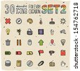30 Colorful Doodle Icons Set 2 - stock