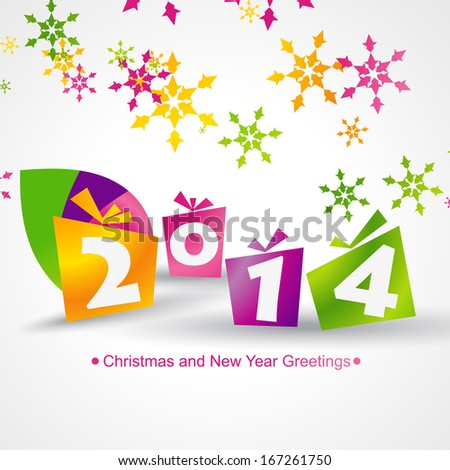 2014 colorful gifts design background