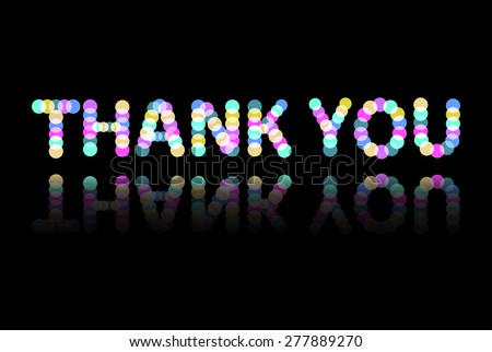 """Colorful inscription """"thank you"""". Vector illustration for graphic design. - stock vector"""