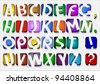 Colorful original Alphabet.Vector eps10 - stock vector