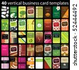 40 Colorful Vertical Business Cards - stock photo