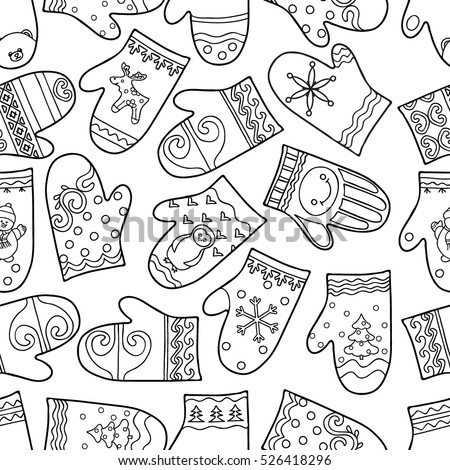 mitten coloring pages for kids - photo#34