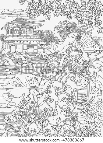 Ivanchina anna 39 s portfolio on shutterstock Japanese coloring book for adults