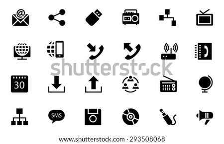 Communication Vector Icons 2  - stock vector