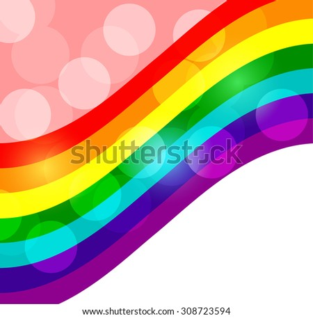 Community of the LGBT the colors of the rainbow Lesbian