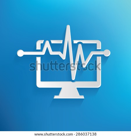 Computer analysis design on blue background,clean vector - stock vector