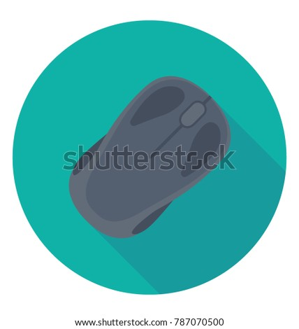 Computer Mouse flat colored Icon