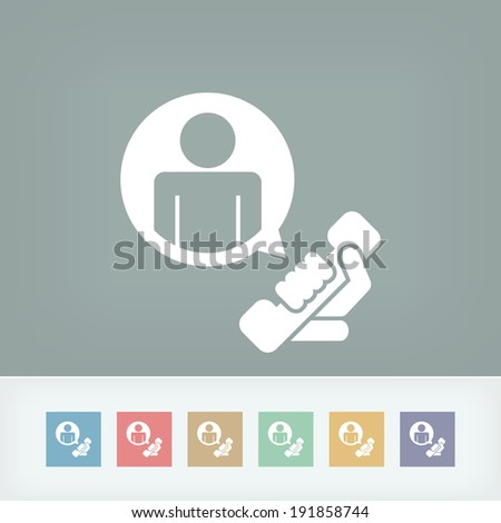 """Contact us"" icon - stock vector"