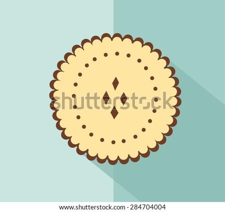 Cookies. flat vector - stock vector