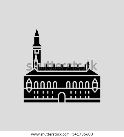 Copenhagen Solid Vector Illustration
