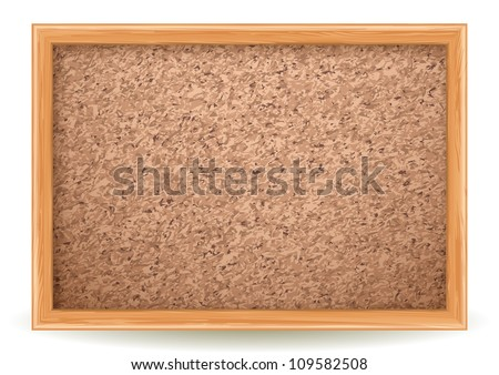 cork board on white - stock vector