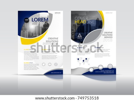 brochure front cover design - cover design annual report business catalog stock vector